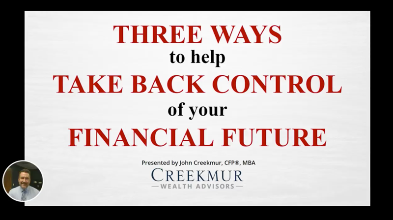 Webinar - Three ways to help take back control of your financial future